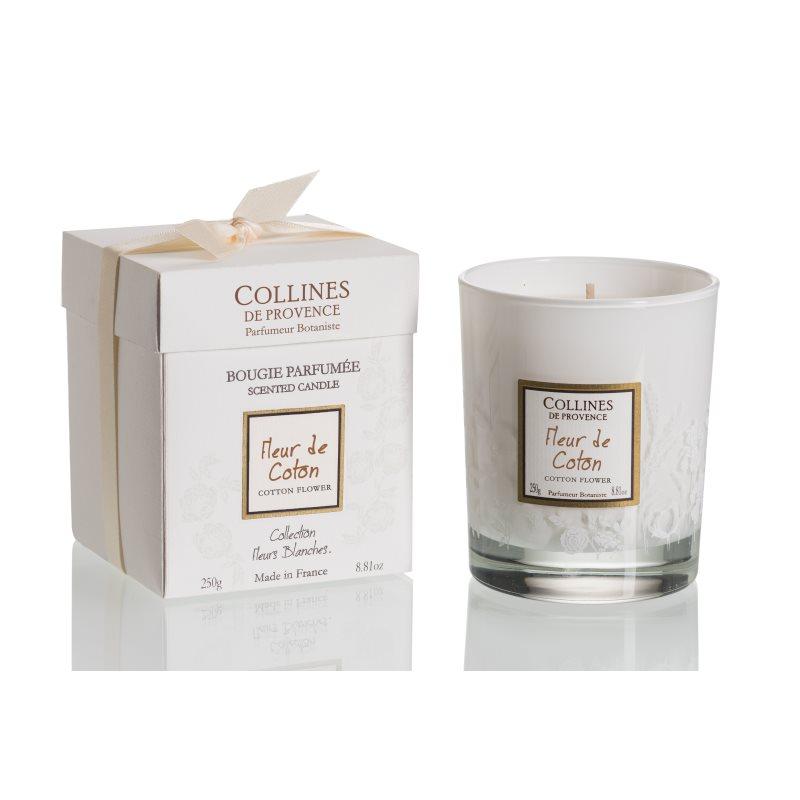 Bougie Parfumee 250gr Fleur De Coton Collines De Provence La