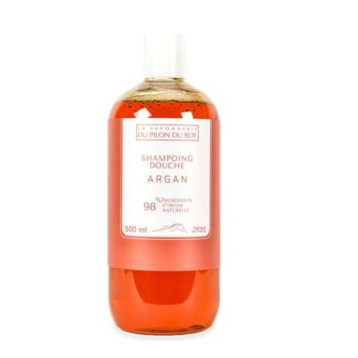 Shampoing-douche Argan bio et Verveine- 500 ml de la Savonnerie du Pilon du Roy