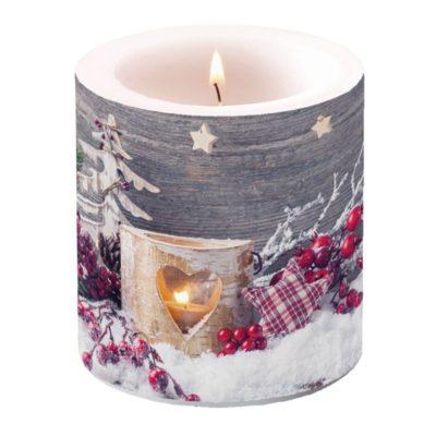 Bougie de Noël - Petit format - Birch Candlelight - Ambiente