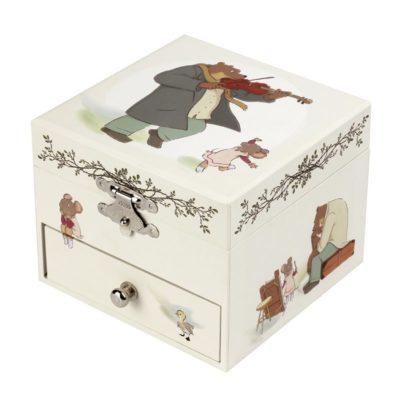 Boite à Musique Cube - Ernest et Celestine© - figurine Ernest -Trousselier