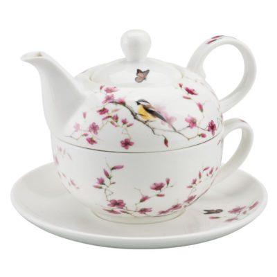 Tea for one - Oiseau sur la branche fleurie - Ambiente