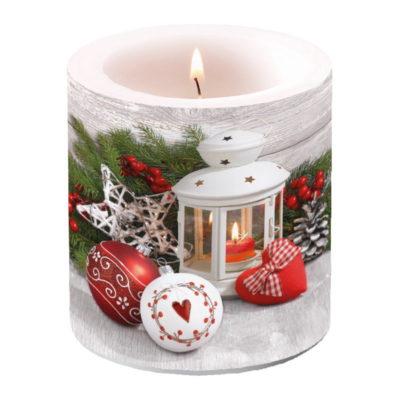 Bougie de Noël - Petit format - White Lantern - Ambiente