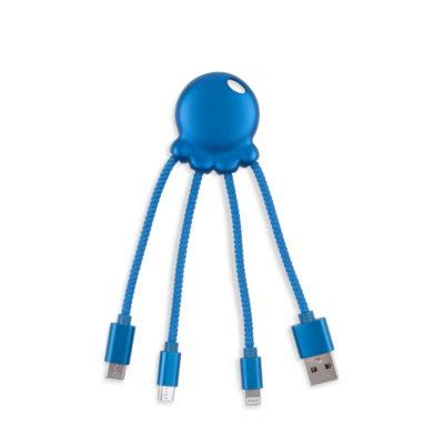 "Câble multi-connecteurs ""Octopus Metallic Bleu"" de Xoopar"