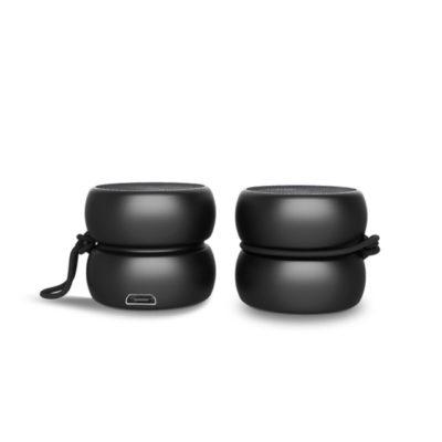 Yoyo Stéréo Speaker, l'enceinte stéréo Bluetooth, noir, de Xoopar