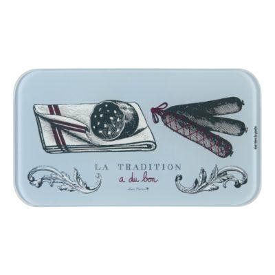 """Set Planche à saucisson et couteau - Modèle KWIK - Gamme """"Tradition"""" - Derrière la porte"""