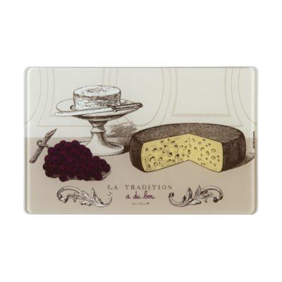 Plateau à fromages et couteau - Modèle MERLIN - Tradition - Derrière la porte