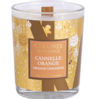 Bougie Parfumée 75gr - Noël - Cannelle Orange - Collines de Provence