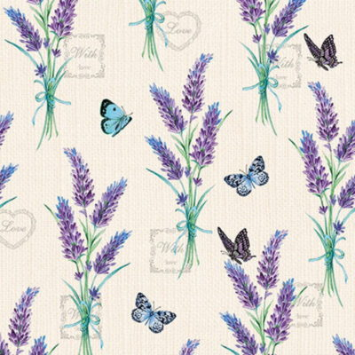Serviettes papier - 33 x 33 - Lavender with love - Ambiente