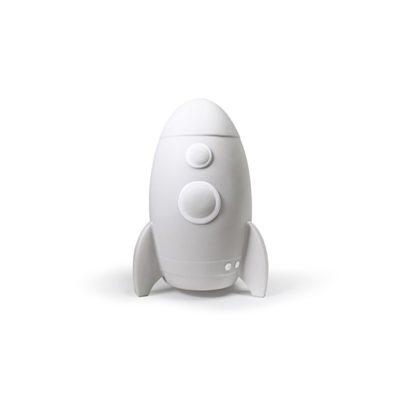 La tirelire - Taille M - Rocket la fusée - Blanche - Stempels Atelier Pierre