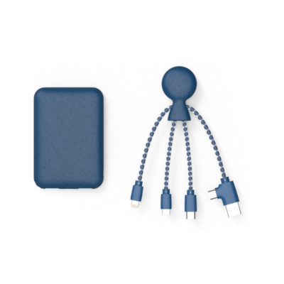 Biopack, LE Pack de charge de 5000 mAh, Bleu de Xoopar, incarnant la philosophie Green et High-tech