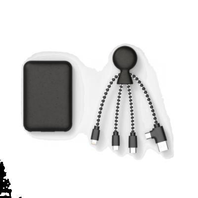 Biopack, LE Pack de charge de 5000 mAh, Noir de Xoopar, incarnant la philosophie Green et High-tech