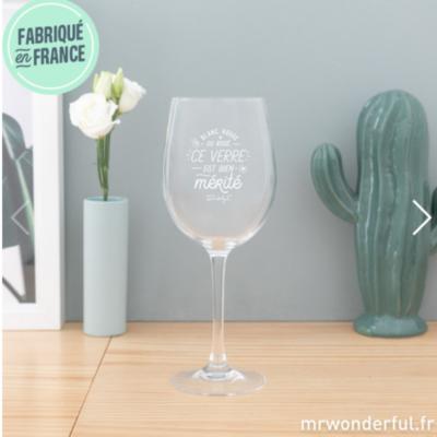 Set Verre à vin - Blanc, rouge ou rosé, ce verre est bien mérité - Mr Wonderful