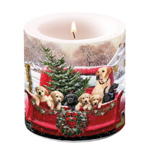 Les bougies photophores non parfumées de Noel - La feerie de Noël