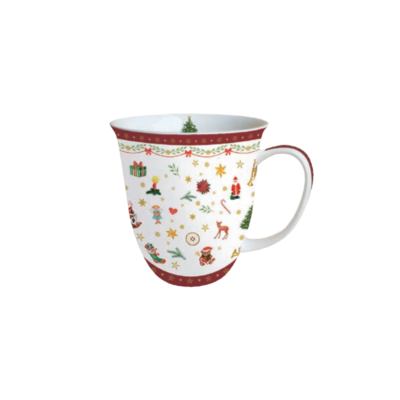 Mug - Ornaments all over red - Ambiente