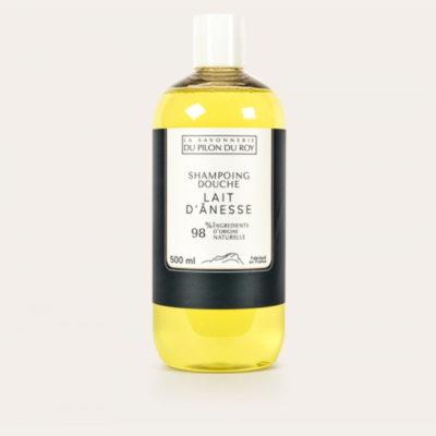 Shampoing douche au lait d'ânesse Bio - 500ml de la Savonnerie du Pilon du Roy