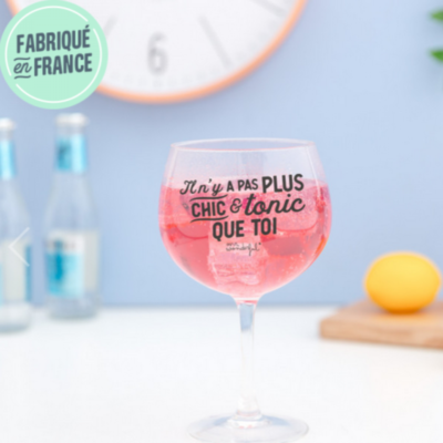 Verre à cocktail - Il n'y a pas plus chic et tonic que toi - Mr Wonderful