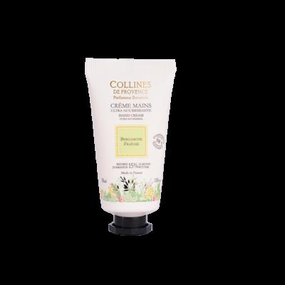 Crème pour les mains 30ml, senteur Bergamote Fraîche de Collines de Provence - Trésors naturels