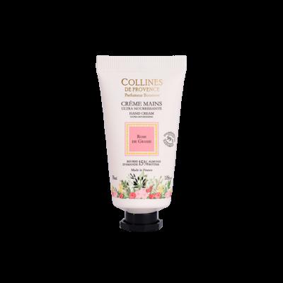 Crème pour les mains 30ml, senteur Rose de Grasse de Collines de Provence - Trésors naturels