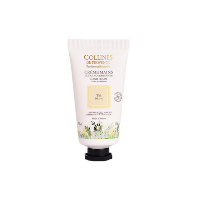 Crème pour les mains 30ml, senteurThé blanc de Collines de Provence - Trésors naturels
