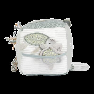 Cube d'activités doux Ocean Mint - Vert - Little Dutch
