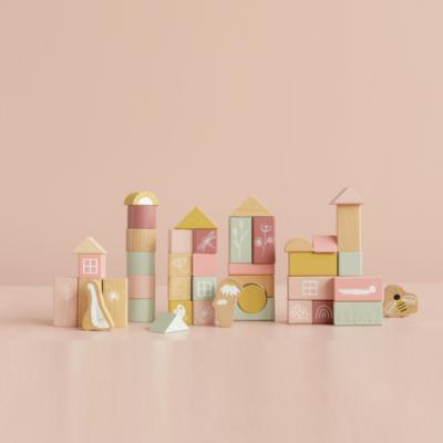 Tonneau de Blocs pink- Little goose - rose - Little Dutch