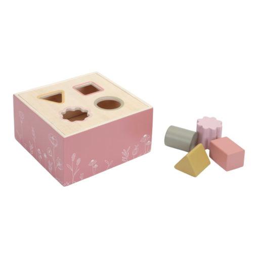 Boîte à formes Wild flowers - Rose - Little Dutch