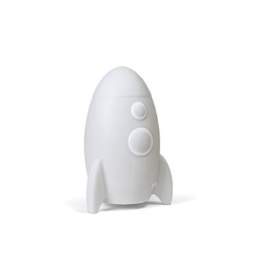 Veilleuse LED Médium - Rocket la fusée Blanche de Stempels Atelier Pierre