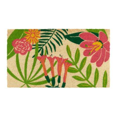 Paillasson COCO PVC - All over fleurs - Derrière la porte