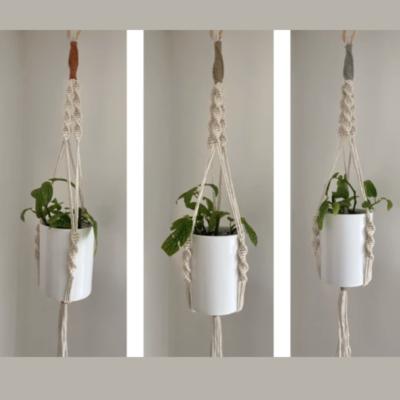Les supports de plante en macramé