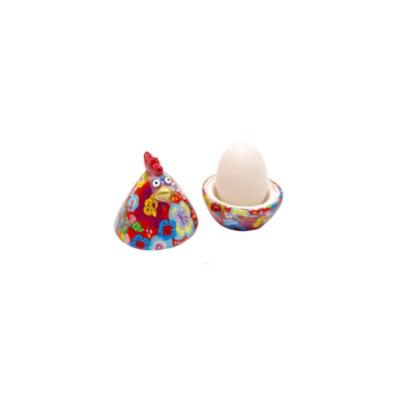 Coquetier - Matilda la poule - Rouge - Pomme Pidou