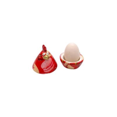 Coquetier - Matilda la poule - Rouge Macaron - Pomme Pidou