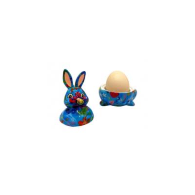 Coquetier - Millie le lapin - Bleu - Pomme Pidou