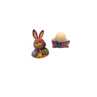 Coquetier - Millie le lapin - Multi couleurs - Pomme Pidou