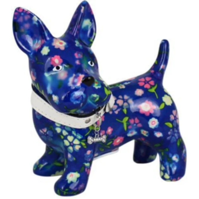 Tirelire - Boomer le chien - Bleu - Taille M - Pomme Pidou
