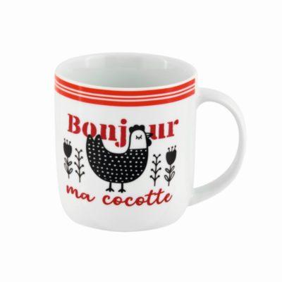 Mug LEMAN - Bonjour ma cocotte, Derrière La Porte