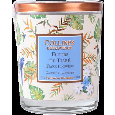 Bougie Parfumée 170gr - Fleur de Tiaré Les estivales - Fleurs des îles - Collines de Provence