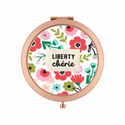 Miroir de poche LAURENCE - Liberty chérie - Derrière la porte