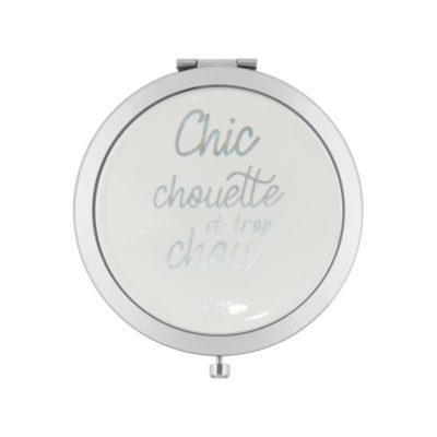 Miroir de poche LAURENCE - Chic chouette - Derrière la porte