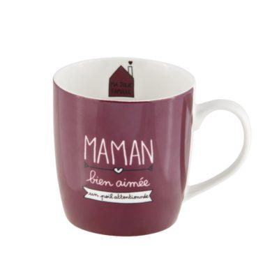 Mug livré avec sa boite, LEMAN Maman bien aimée, Derrière La Porte