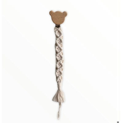 Attache tétine - Personnage Ours - Coraliehandmade