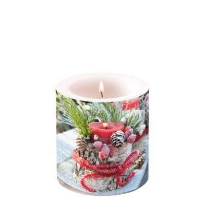 Bougie de Noël - Petit format - Frozen Candle - Ambiente Europe