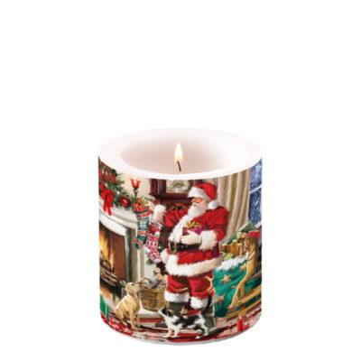 Bougie de Noël - Petit format - Santa Interior - Ambiente Europe