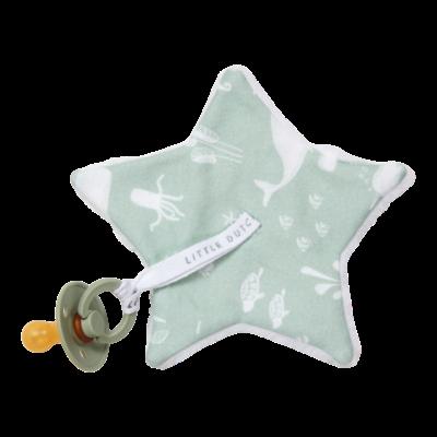 Doudou attache-sucette - Ocean Mint - Little Dutch