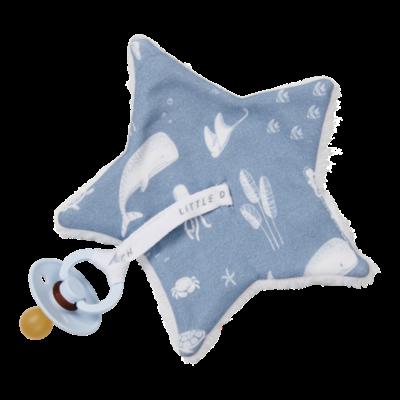 Doudou attache-sucette - Ocean Blue - Little Dutch