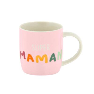 """Mug livré avec sa boite, Modèle LEMAN - gamme """"Super maman"""", Derrière La Porte"""