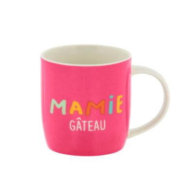 """Mug livré avec sa boite, Modèle LEMAN - gamme """"Mamie gâteau"""", Derrière La Porte"""