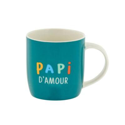 """Mug livré avec sa boite, Modèle LEMAN - gamme """"Papi d'amour"""", Derrière La Porte"""