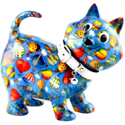 Tirelire - Kiki le chat - Bleu - Taille M - Pomme Pidou