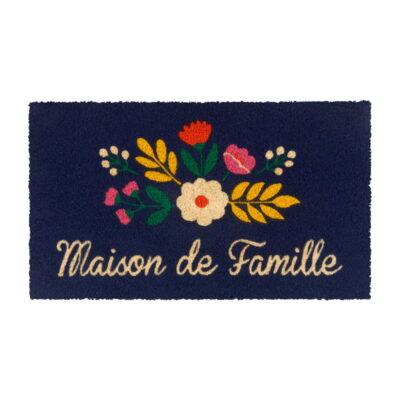 Paillasson COCO PVC - Maison de famille bouquet - Derrière la porte