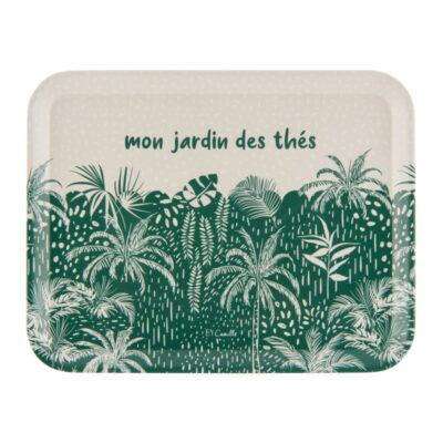 """Plateau 27 x 21 - Modèle Raxe - Gamme """"Mon jardin des thés"""" - Derrière la porte"""